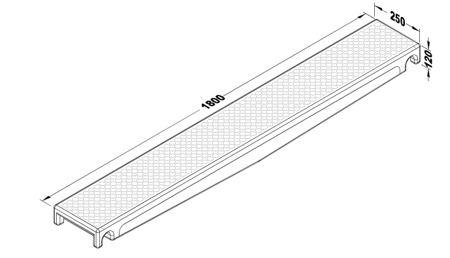 Walkboard 1.8m